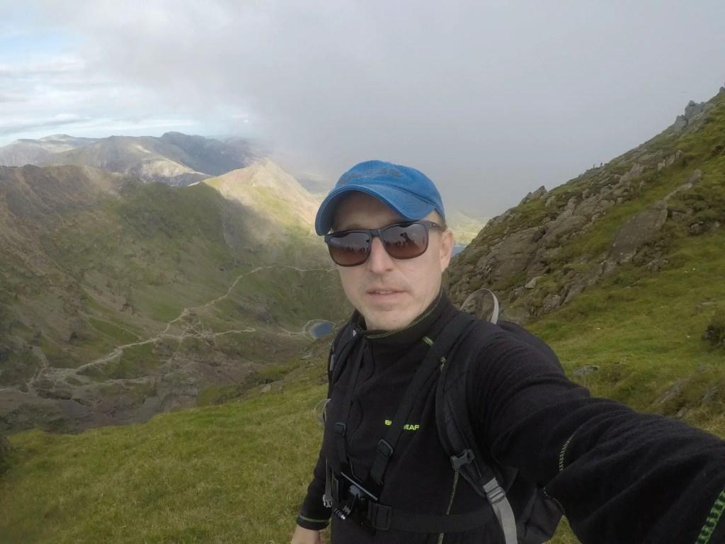 Gavin at Snowdon's Summit