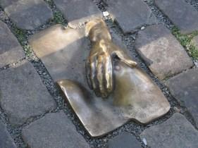 Amsterdam sculpture in the floor