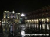 Plaza Mayor at night, Gijón