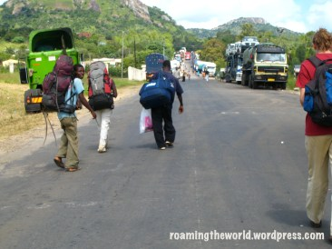 Crossing the border from Malawi to Mozambique