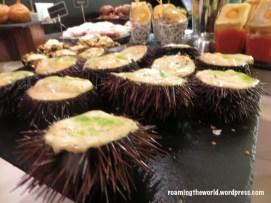 Sea urchin soup
