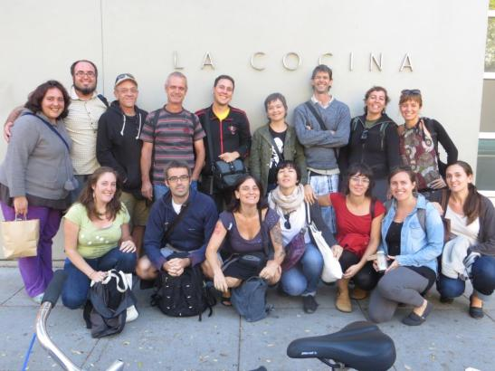 The group in front of La Cocina in the Mission