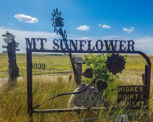 Mt Sunflower Kansas High Point