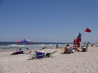 Enjoying the beach on Amelia Island.