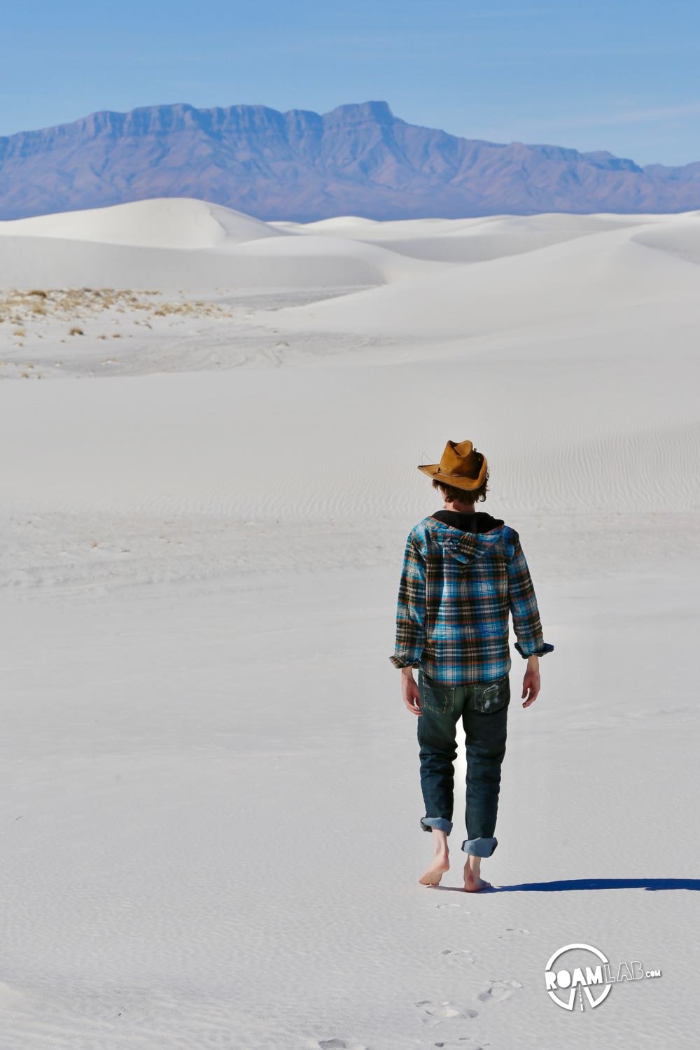 Hiking the dunes of White Sands National Monument