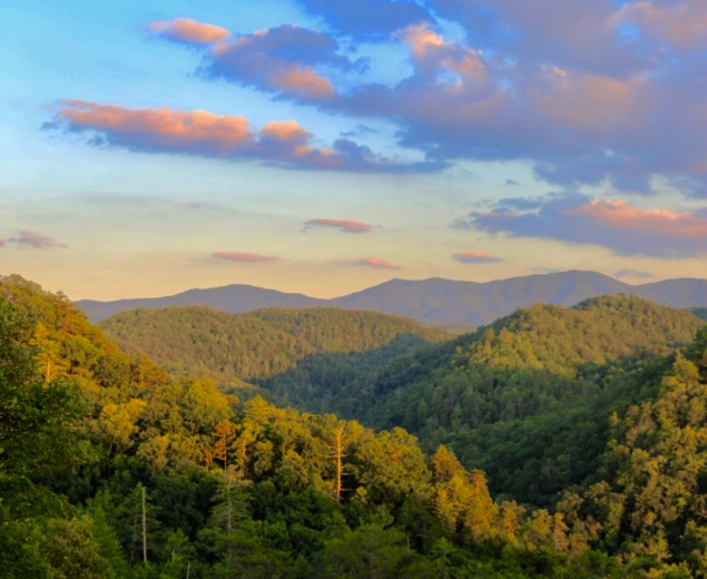 Smoky Mountains National Park Sunset