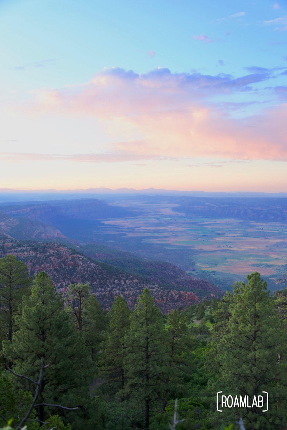 Sunset view of Paradox Valley, Colorado