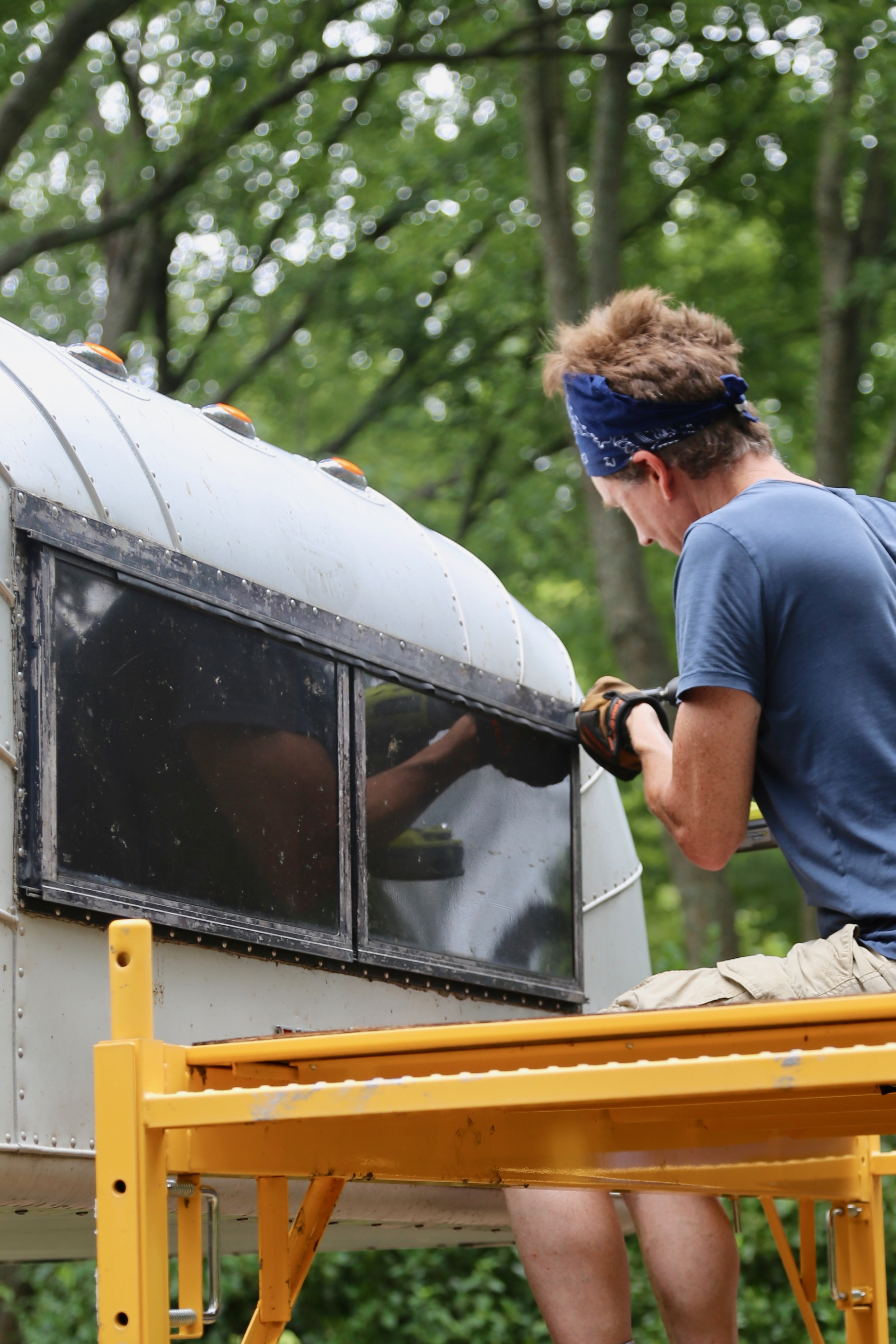 Step-by-step DIY replacing of a leaky vintage truck camper cabover window by installing a new, double paned, aerodynamic, and modern RV window.