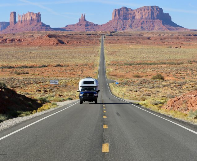 Monument Valley is an incredibly popular film location but few vistas are more iconic than the Forrest Gump Point along Scenic U.S. Highway 163.