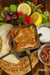 Enjoy a campground twist on the breakfast buffet with this pie iron crepe campfire cooking breakfast recipe. Make them sweet, savory, or a bit of both.