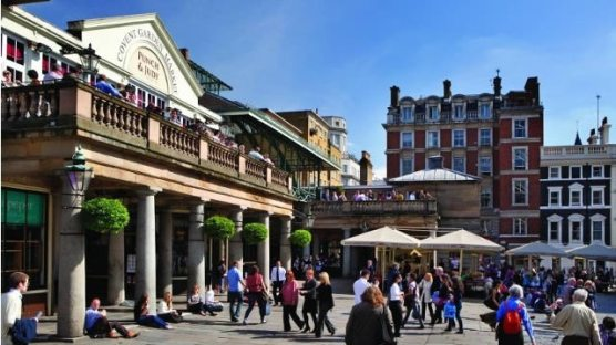 4. Covent Garden. From street entertainers to the Royal Opera House and Burberry to vintage clothes stalls, there truly is something for everyone. All situated in the historic market building, there's no traffic ruining your day shopping.