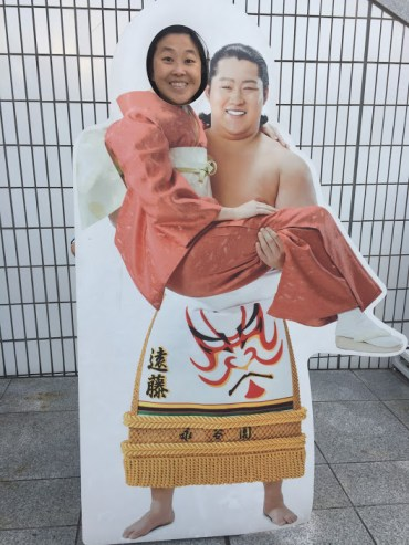 Phi at the Sumo museum.