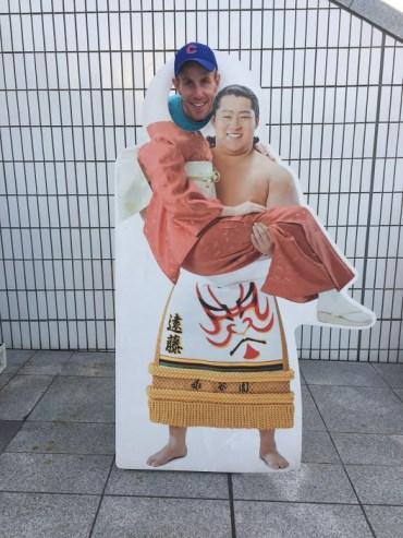Matt at the Sumo museum.