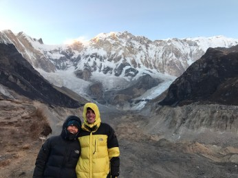 Us with Annapurna as a backdrop