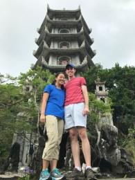 Pagoda at Marble Mountains.