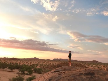 Matt enjoying the sunset.