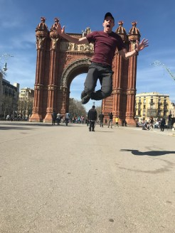 Jumping in Barcelona!