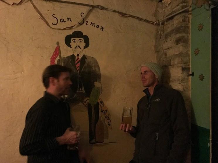 Matt and Barry at the ruin bar