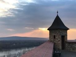 Bratislava sun setting