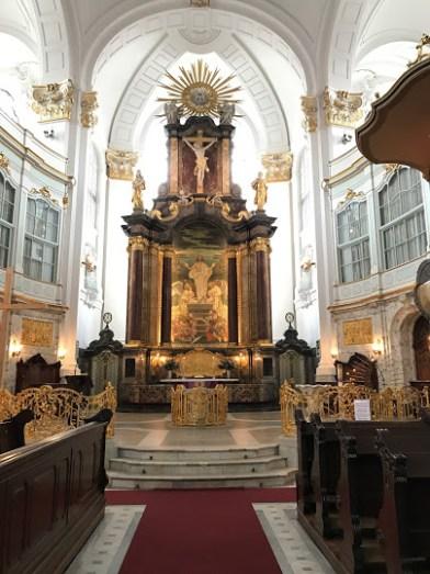 Inside St. Michael's Church.