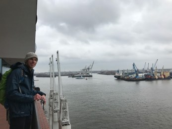 View from atop the Elbphilharmonie.