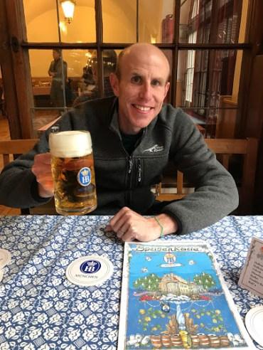 Matt and his beer!