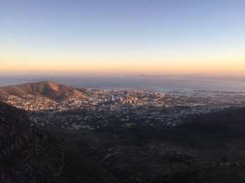 Sunrising over Cape Town