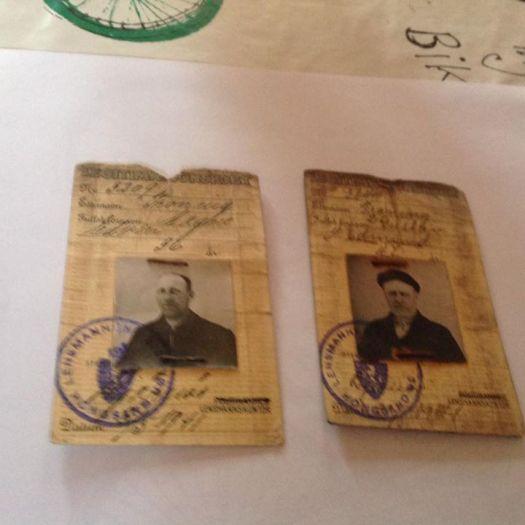 Jeg fant også legitimasjonskort av min far Magne Edvin Troning og hans bror Edmund Gustav Troning.