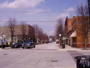 A Picture of Main Street Roanoke, IN