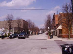 A Picture of Main Street Roanoke, IN