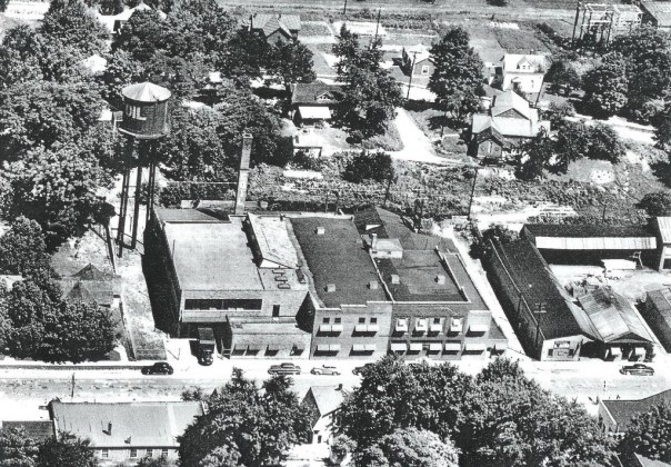 aerial photograph of 314 N. Main Street in 1949