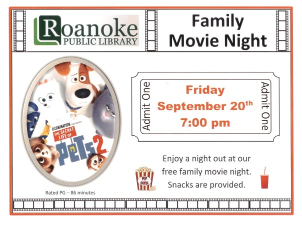 Family Movie Night for Sept. 2019