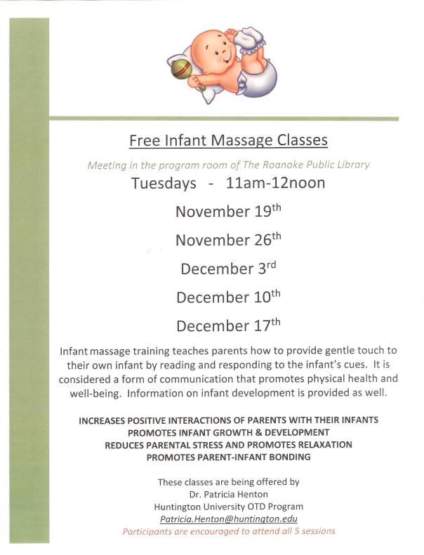 Free Infant Massage Classes