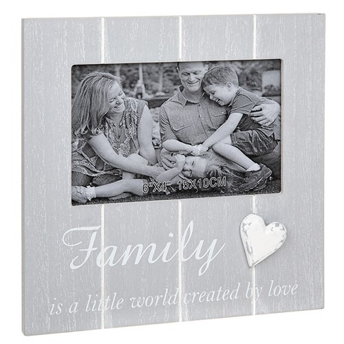 Cool Grey Frame 4x6 Family