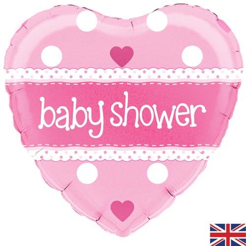 "18"" Baby Shower Heart Pink balloon"