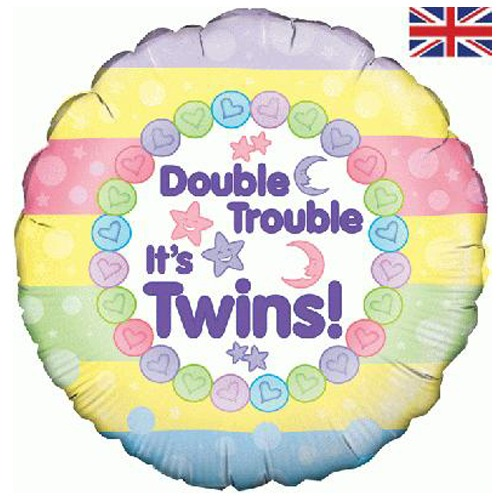 18 Inch Double Trouble Twins Balloon