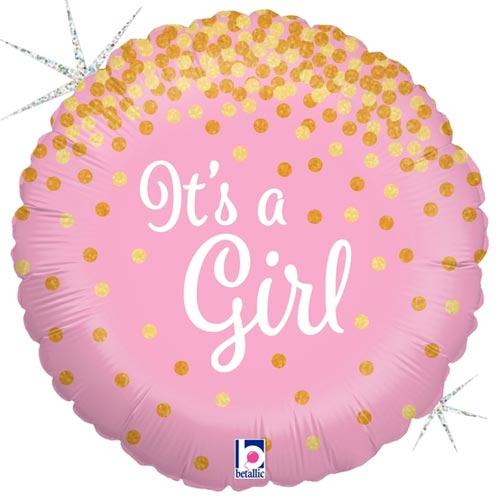 18 Inch Glittering It's a Girl Balloon