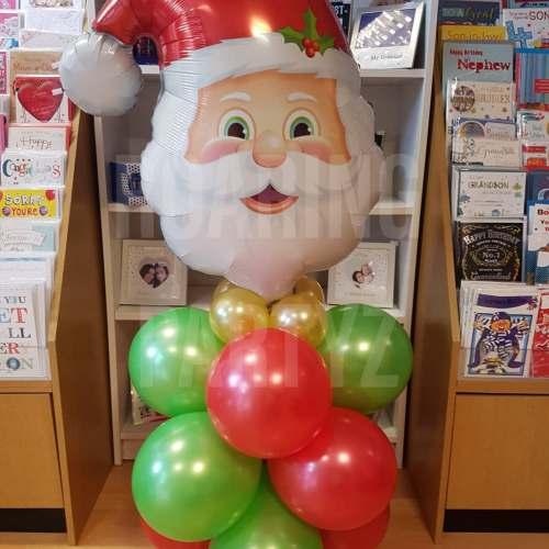 Santa Head Balloon Tower