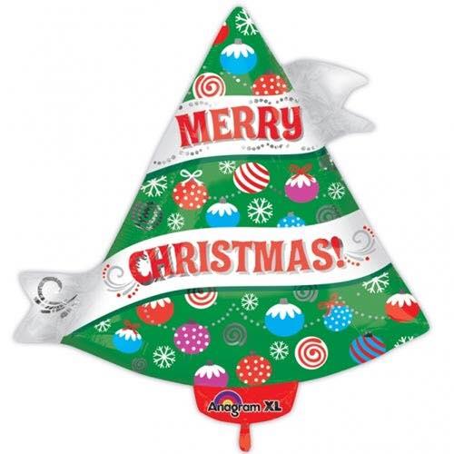 21 Inch Merry Christmas Tree Balloon