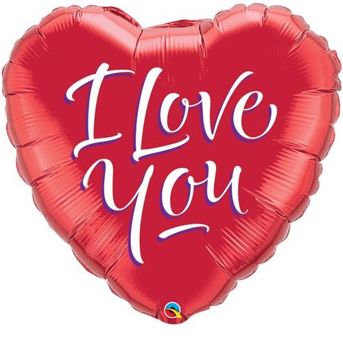 I Love You Script Balloon