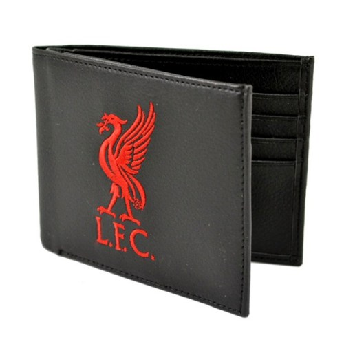 Liverpool Crest Embroidered Leather Wallet