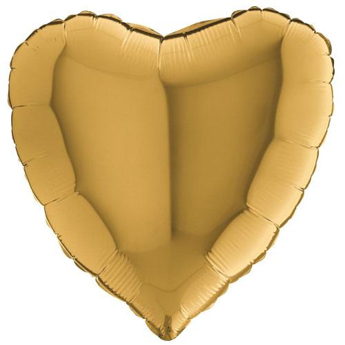 18 Inch Gold Heart Balloon