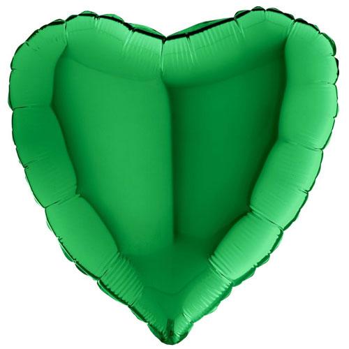 18 Inch Green Heart Balloon