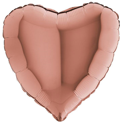 18 Inch Rose Gold Heart Balloon