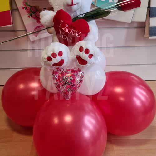 20cm Bear and Rose Set
