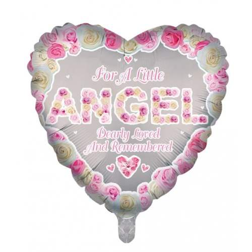 Remembrance Angel Heart Balloon