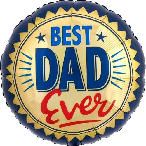 Best Dad Ever Gold Stamp Balloon