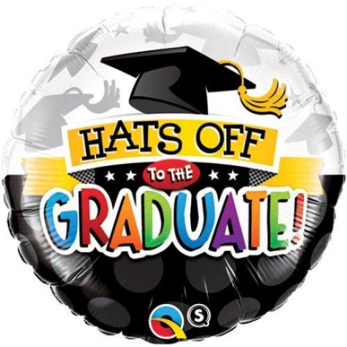 """18"""" Hats Off Graduate Balloon"""