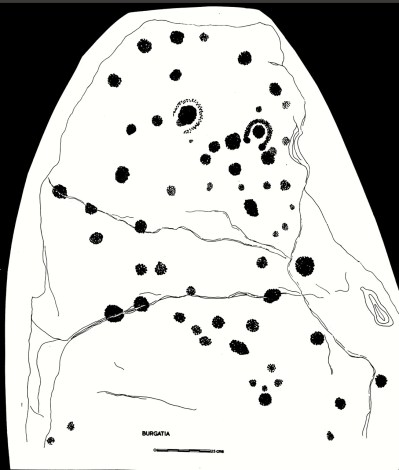 Rock Art on the Surface (Drawing by Finola Finlay)