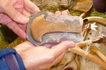 axe head in mould